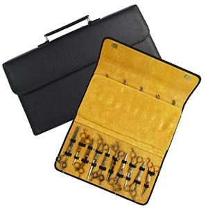Foto de Matakki Leather Scissor Case Holds 20 pcs