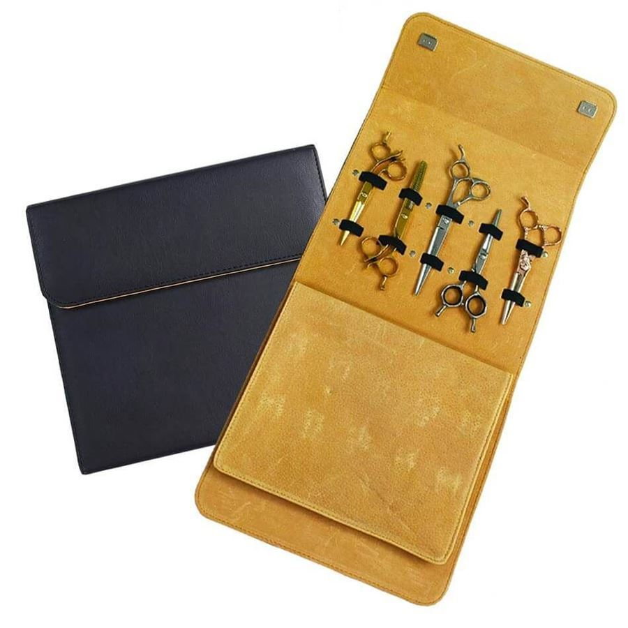 Foto de Matakki Leather Scissor Case Holds 10 pcs
