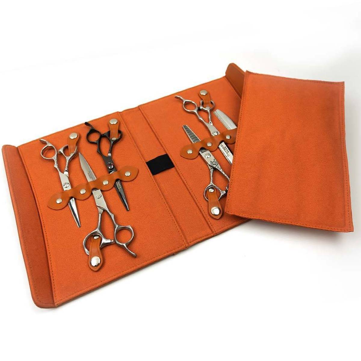 Picture of Hairdressing Scissor and Barber Scissor Case Holds 6 pcs - (Orange)